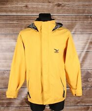 Salewa Hooded Gore-Tex Men Yellow Jacket Coat Size S, Genuine