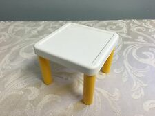 Little Tikes Dollhouse Size Table Excellent Condition Yellow Legs