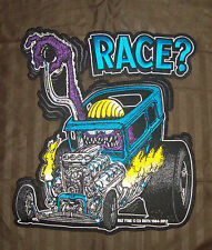 """LARGE FULLY LICENSED ED """"BIG DADDY"""" ROTH RAT FINK RACE? HOT ROD BACK PATCH"""