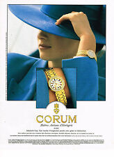 PUBLICITE ADVERTISING 094  1991  CORUM  collection montres ADMIRAL'S CUP