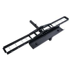 Steel Motorcycle Scooter DirtBike Carrier Hauler Hitch Mount Rack Ramp Anti Tilt