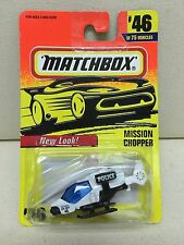 Matchbox 1997 #46 Mission Chopper Police Helicopter NEW