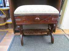 Antique Victorian Slipper Bench/Sewing Stool