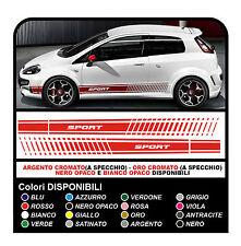 Adesivi FIAT PUNTO SPORT fasce adesive FIAT Grande Punto sport stickers delcals