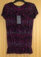 SZ 8 Per Una Stunning BRT Violet Top with Stud Detail Elastic Hip StayNew  BNWT