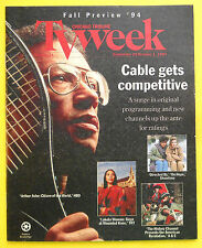 ARTHUR ASHE CITIZEN OF THE WORLD Chicago TV guide Sept 25 1994 FALL PREVIEW