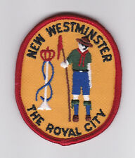 SCOUT OF CANADA - CANADIAN SCOUTS BRITISH COLUMBIA (BC) NEW WESTMINSTER Patch