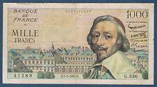 FRANCE - 1000 FRANCS RICHELIEU Fayette n° 42.26 du 5-9-1957.B en TB+ G.336 41289