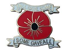 some gave all new design poppy badge british army legion rememberance day 2016