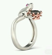 Beautiful Frog and Crown Engagement Ring Size R 1/2