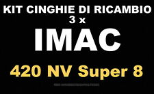 ★ KIT CINGHIE DI RICAMBIO 3 x PROIETTORE SUPER 8 mm IMAC 420 MV ★