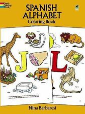 Spanish Alphabet Coloring Book Dover Children's Bilingual Coloring Book