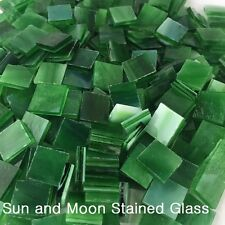 """100 1/2"""" Forest Green Stained Glass Mosaic Tiles"""