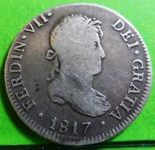 Fernando Vii 2 Reales 1817 Lima -Jp- Silver Spanish Colonial