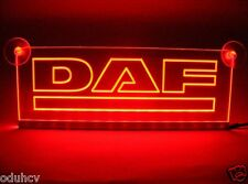 24V Red LED Cabin Interior Light Plate for DAF Truck Neon Illuminate Table Sign