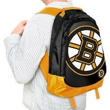 Boston Bruins BackPack / Back Pack Book Bag NEW NHL - TEAM COLORS BIG LOGO
