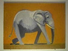 "Elephant Walking oil painting on canvas 18"" x 24"""