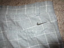 NIKE GOLF TOUR PERFORMANCE GRAY CHECK PLAID PANTS MEN 34X30 STRETCHY 10% SPANDEX