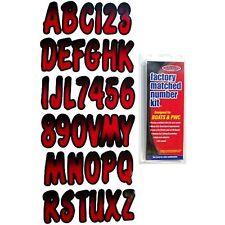 """Hardline REBKG200 3"""" Boat Letter And Number Kit Black And Red"""