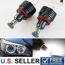 2x 80W CREE H8 LED Angel Eyes Halo Ring Marker Light Bulbs Xenon White 6000K BMW