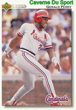 690 GERALD PERRY ST. LOUIS CARDINALS BASEBALL CARD UPPER DECK 1992