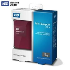 WD My Passport Ultra 2015 1TB Portable External Hard Drive USB 3.0 HDD Berry MP