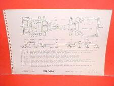 1964 CADILLAC ELDORADO CONVERTIBLE 60 SPECIAL 62 DEVILLE FRAME DIMENSION CHART