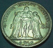 France - 1873A - 5 Five Francs - Large Old Silver Coin