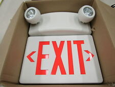 EXIT/EMERGENCY surface mounted fixture by RUUD LIGHTING Red face, white body NIB