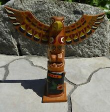 "Northwest Coast Native Eagle Whale 9""  OLD Totem Aboriginal Indigenous"