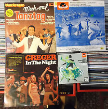 """MAX GREGER ORCHESTER 2 x LP: GREGER IN THE NIGHT/TANZTAG &  4TRACK 7""""TANZTURNIER"""