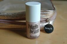 Benefit Cosmetics High Beam Liquid Face Highlighter 0.45 oz- Full size with Bag
