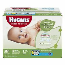Huggies Natural Care Baby Wipes NEW