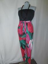 70's Funky Exaggerated Tulip Strapless Harem Jumpsuit Dotti Large Mod Op Art Vtg