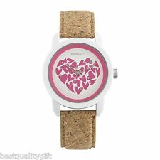 SPROUT PINK HEARTS WITH WHITE CORN RESIN CASE WITH TAN CORK STRAP ST/8000WTCK