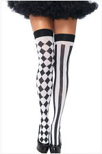 Clown Tights Jester Costume Halloween Clown Medieval Adult Fancy Dress Party