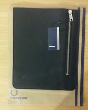 GENUINE Fred Perry Quality LEATHER Tablet Great Sleeve Case Black SAVE £66!! WOW