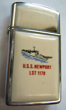 BRIQUET ZIPPO ORIGINAL USA US NAVY USS NEWPORT abimé !ORIGINAL VINTAGE COLLECTOR
