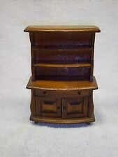 Vintage Wood Doll House Furniture Hutch