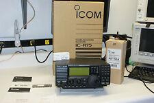 Icom IC-R75 Communications Receiver. 03 MHz - 60 MHz. AM Sync. UT-102 & UT-106.
