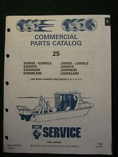 1991 OMC Johnson Evinrude Outboard Parts Catalog Manual 25 HP Commercial