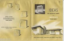 1948 OWENS-ILLINOIS Insulux GLASS Block IDEAS for BRIGHTER Homes Vintage Catalog
