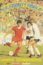 Liverpool v Tottenham Hotspur21 Aug 1982 FA CHARITY SHIELD WEMBLEY FOOTBALL PROG