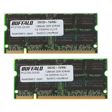 Buffalo 2X1GB DDR PC2700S 333Mhz 200PIN DIMM CL2.5 SDRAM For Intel Laptop memory