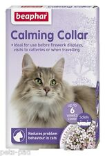 Calming Collar for Cats, Calms, Reduces problem Behaviour, Travelling, Vets.