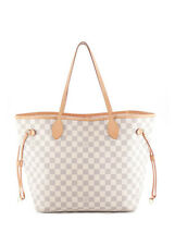 LOUIS VUITTON Coated Canvas Damier Azur Neverfull MM Tote Handbag BP2258 MHL