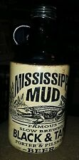 Mississippi Mud Slow Brewed Black & Tan Porter & Pilsner Beer Bottle(empty) 1 QT