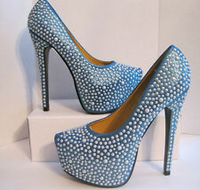 Machi Pumps Women Shoes Size 8 Blue Absolutely Stunning  *