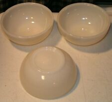 3 Anchor Hocking Oven Fire King Milk White Cereal or Chili Bowls - Vintage USA