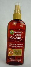 Garnier Ambre Solaire Schützendes Sonnen-Öl Mittel 20 UVA UVB wasserfest 150ml